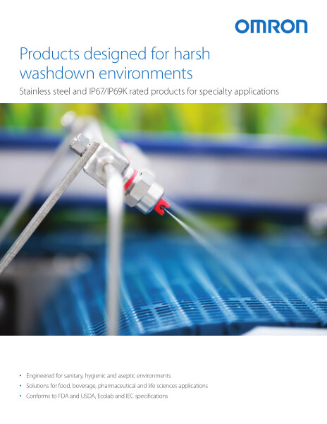 Stainless steel and IP67/IP69K rated products for harsh washdown environments and specialty applications.