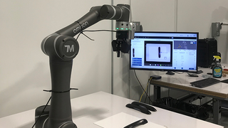 "The TM cobot includes a smart camera in every robotic arm. This technology is called ""eye in hand,"" and allows you to use the TM cobot in more flexible applications than traditional robots."