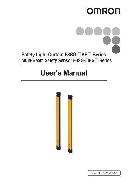Safety Light Curtain F3SG-SR Series