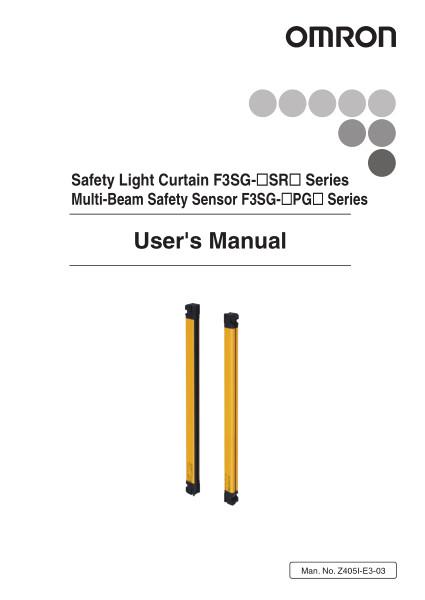 Safety Light Curtain F3SG-SR Series    Multi-Beam Safety Sensor F3SG-PG Series