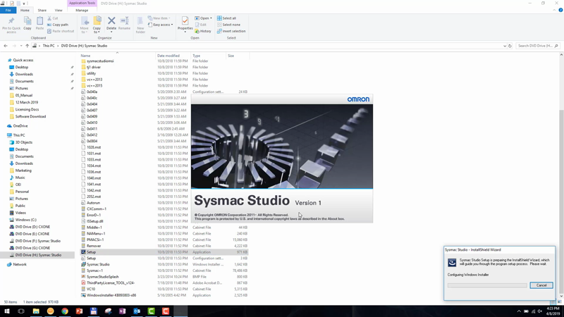 This video demo shows you how to install Sysmac Studio (at 1:25).