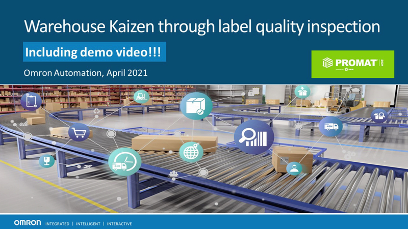 """Consumer safety, regulations, anti-counterfeiting protection, and inventory traceability drive the requirement for accurate and high-quality labels applied throughout the logistics process. Omron supplies a broad variety of products through our """"MVRC"""" methodology: """"Mark, Verify, Read, and Communicate"""", to help manufacturers and warehouse managers meet their traceability objectives.    Omron presents in this session our unique solution of automated label quality inspection system, which has seen success in life science and packaging industries and is of great potential for the logistics industry, in applications such as: label quality verification, damaged label reprint, shipping label verification, etc. We will also present a pre-release of our new high-resolution smart cameras-based code reader, V440F, which simultaneously reads and formats data output from hundreds of barcodes within a large field of view."""