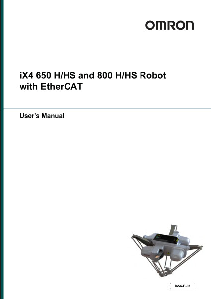 This manual contains information that is necessary to install and use an iX4 robot. Please read this manual to understand the functionality, installation, and performance of the robot before use.