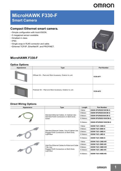 Smart Camera    Compact Ethernet smart camera.