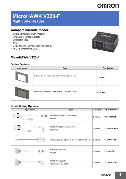 Multicode Reader    Compact barcode reader.