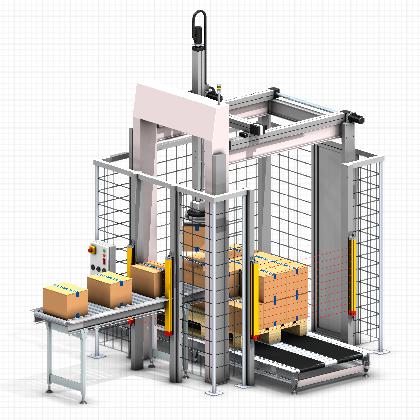 Palletizer gantry robot   Omron