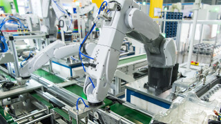 An Omron robot in a flexible manufacturing robot-20