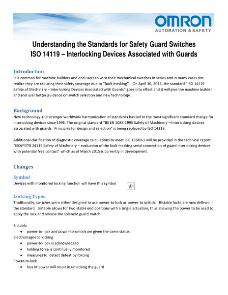 Omron | Understanding the Standards for Safety Guard