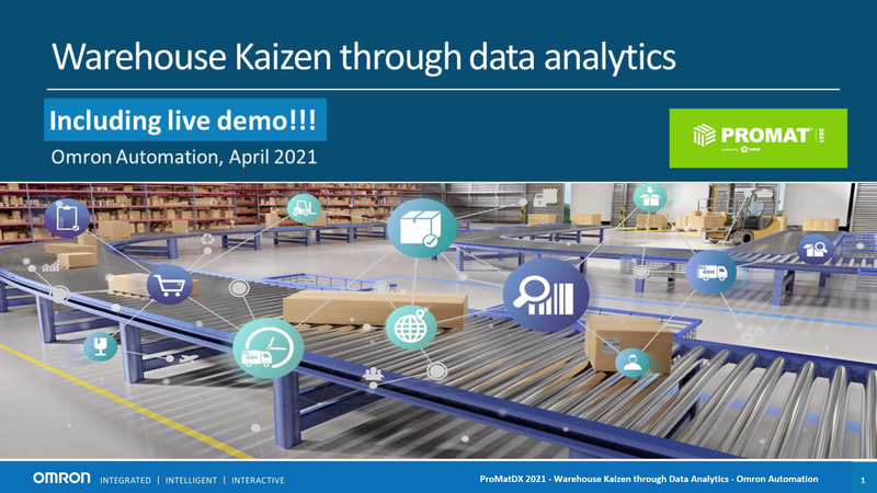 The expansion of online business has created demands for high-speed and scalable warehouse automation systems. Understanding the performance level of the system, especially the reasons causing errors, is a key step in achieving Kaizen. Omron presents in this session two scenarios applying analytics at different levels of your facility.    Scenario I highlights Omron's AI Controller for high-speed anomaly detection and immediate correction at the machine level; Scenario II details Omron's databased enabled NX controller for secured data collecting and sharing for facility-level management. Join this session to learn how Omron's IIoT solution offers differentiating benefits through fast, reliable, and secured data connections.