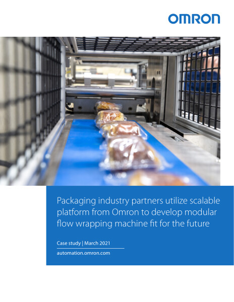 Packaging industry partners utilize scalable platform from Omron to develop modular flow wrapping machine fit for the future.