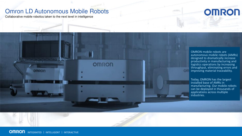 Omron LD Autonomous Mobile Robots