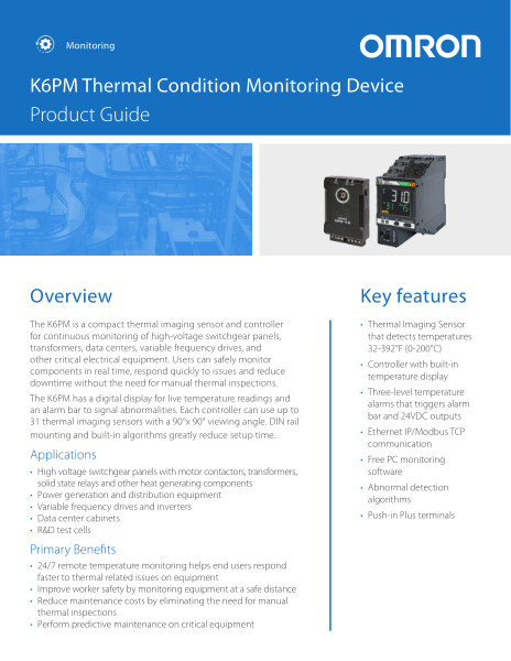 K6PM Thermal Condition Monitoring Device