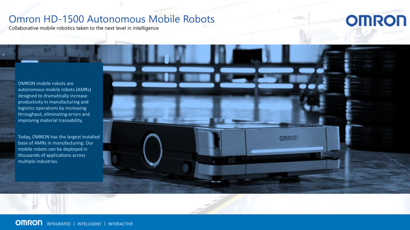 Collaborative mobile robotics taken to the next level in intelligence.
