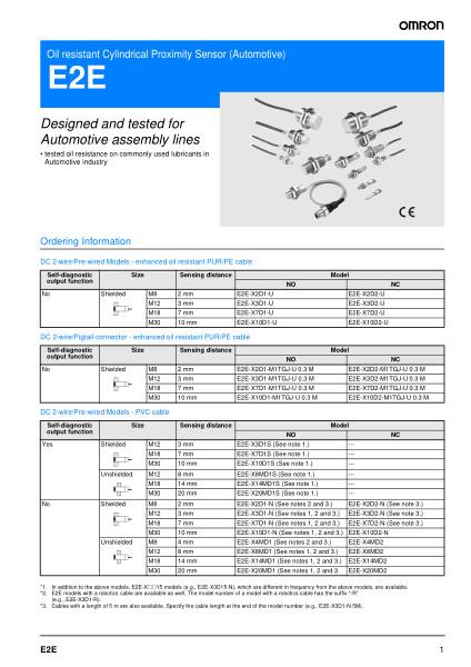 Oil resistant Cylindrical Proximity Sensor (Automotive)