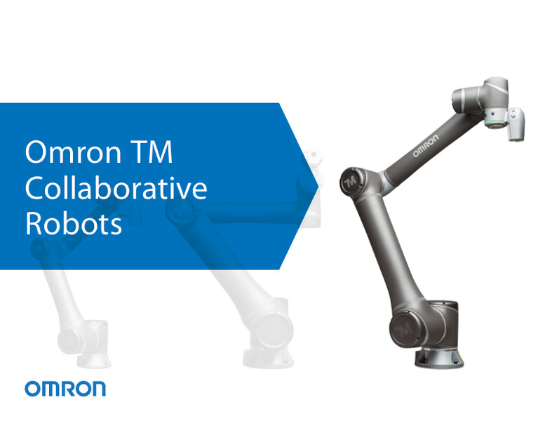Omron's lineup of collaborative robots includes a variety of models to guarantee the right reach and payload capacity for different applications, including mobile robotcompatible (DC) versions.